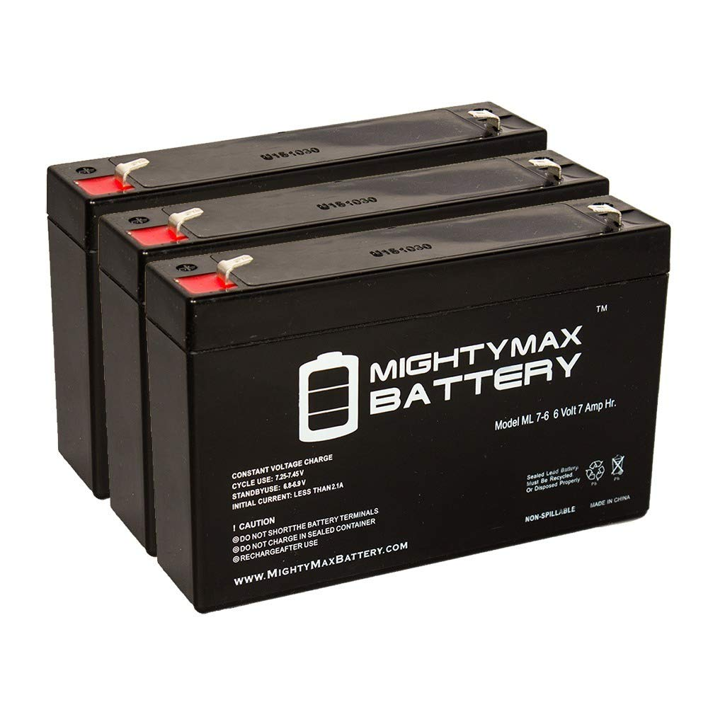 Mighty Max Battery 6volt 7.2ah Battery Replacement for WKA6-7.2F - 3 Pack brand product