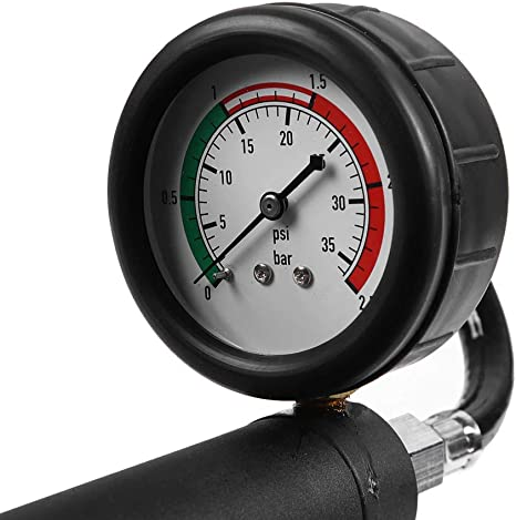 Ebtools 18pcs Universal Radiator Pressure Detector Kühlsystem Kit Mit Druckprüfung Handpumpe Mit Manometer Thermometer Nadel Kühleradapter Aus Verchromtem Stahl Anode Aluminium Kühleradapter Auto