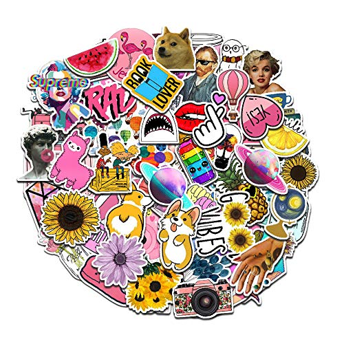 103Pcs Cute Vinyl Stickers Pack Waterproof for Laptop,Lovely Sticker Decals for Teen Girls,Computer,Skateboard, Luggage