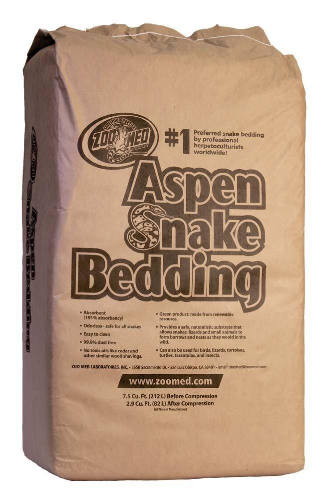 Zoo Med Aspen Snake Bedding: 7 5 Cubic Feet Bale by Zoo Med