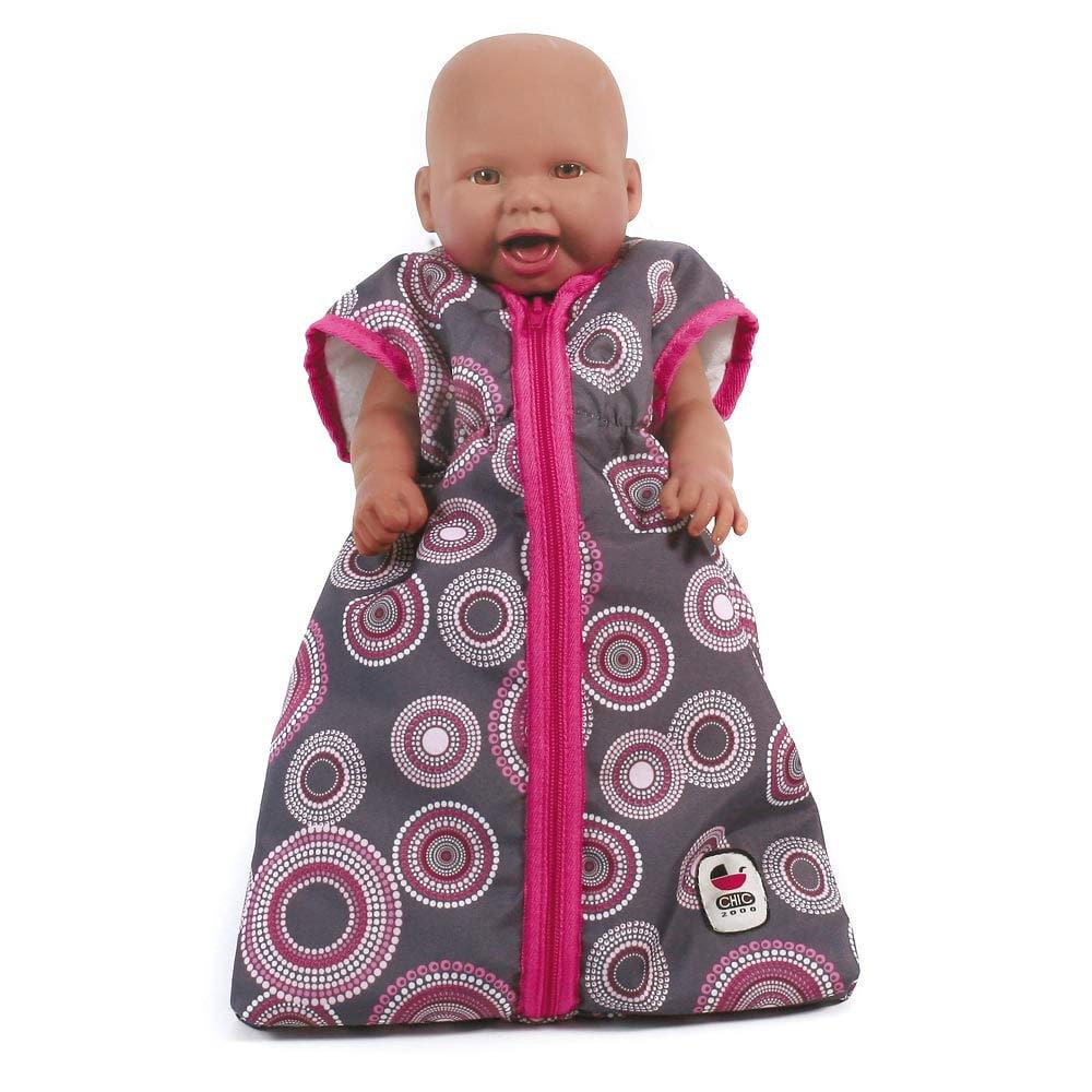 Amazon.es: Chic Bayer 2000 792 87 - Muñecas saco de dormir para muñecas, alrededor de 55 cm, perlas rosadas calientes: Juguetes y juegos
