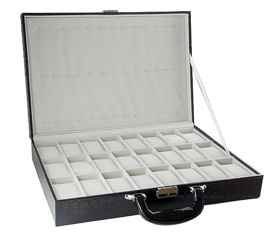 Feibrand Caja Guardar 36 Relojes Hombre Estuche Relojes Viaje: Amazon.es: Relojes