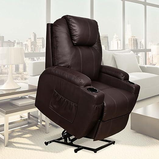amazon com u max recliner power lift chair wall hugger pu leather