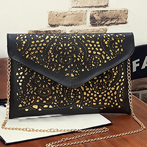 Poschette donna Envelope Bag Clutch Black giorno SSMK gz4twxtqX
