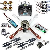 QWinOut DIY 2.4G 6CH KK V2.3 F450 Flamewheel RC Quadcopter 4-Axle UFO Unassembly Kit RTF/ARF Basic Drone