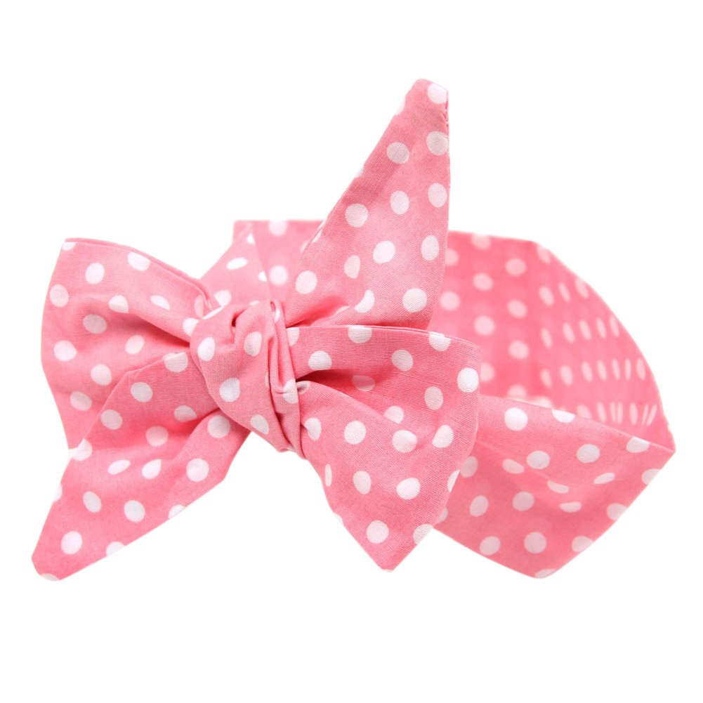 Fashion Story 5PC Elastic Hair Bow Photography Baby Girl Headband Head Wrap Knotted