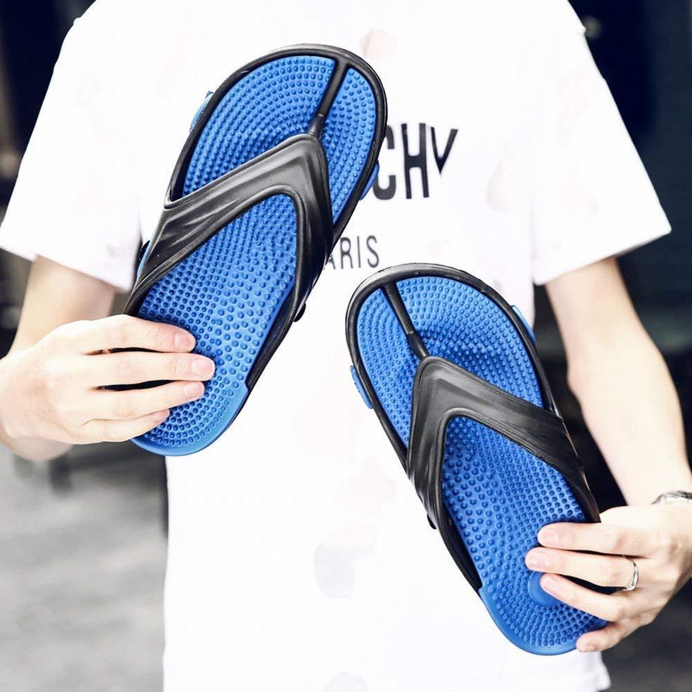 - Fuxitoggo Tendance Bascule Légère et Confortable Baskets de Massage pour Hommes Chaussures de Plage extérieures antidérapantes (Couleuré   Bleu, Taille   44)