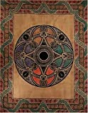 Tan Celtic Ball Indian Bedspread, Double Size