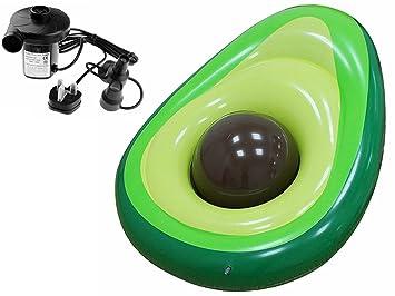 PovKeever Avocado - Pizarra hinchable flotante, 165 cm, piscina gigante, flotador de verano, anillo de natación, ...
