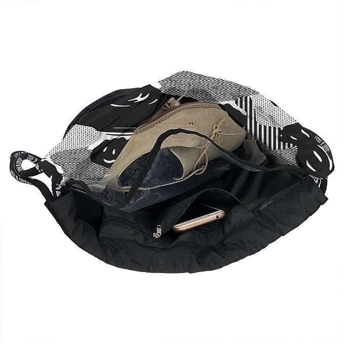 c18bd7a6da21 Amazon.com: YyTiin Modern Man's Back Unisex Waterproof Drawstring ...