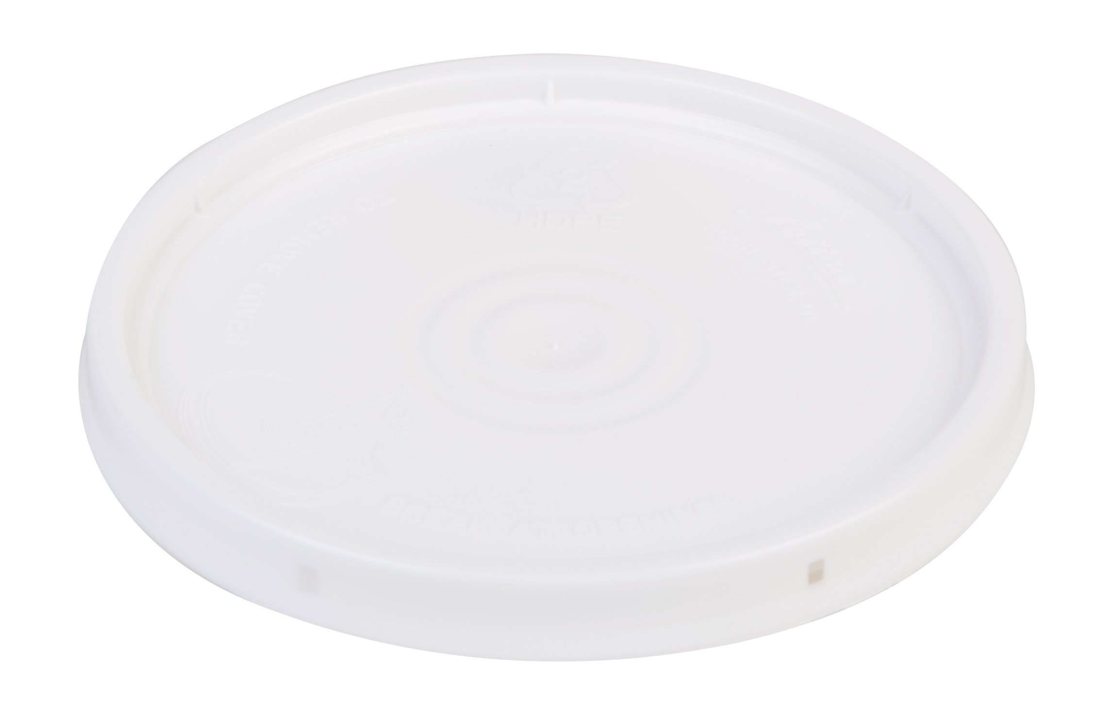 Hudson Exchange Premium Lid with Gasket for 1 Gallon Bucket, HDPE, White, 6 Pack