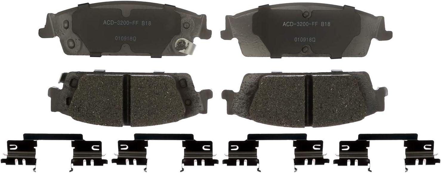 ACDelco 17D272 Professional Organic Rear Disc Brake Pad Set