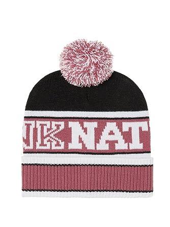 8155f632ff7 Amazon.com  Victorias Secret Pink Nation Beanie Hat Black  Clothing