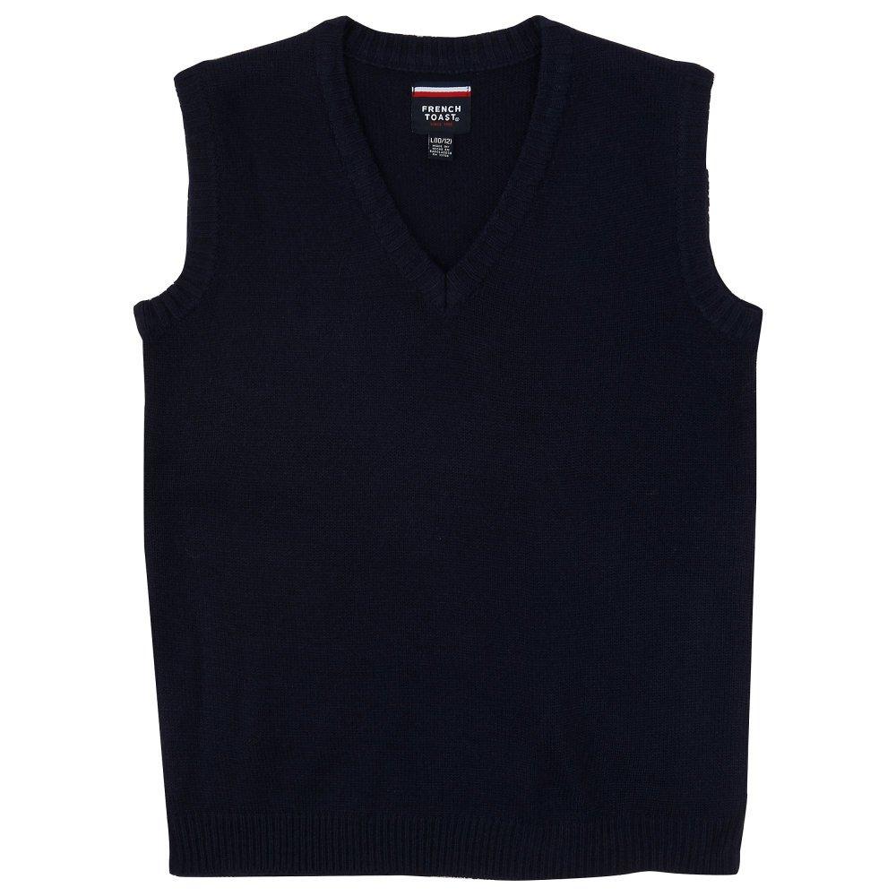 French Toast V-Neck Sweater Vest Boys Navy 18