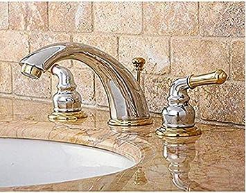 Chrome Polished Brass Widespread Bathroom Faucet Bathroom Sink