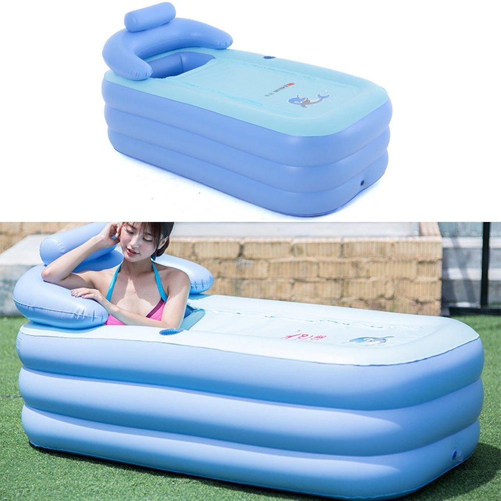 oukaning Portable Adult Spa PVC plegable ba/ñera ba/ñera hinchable Piscina infantil hinchable Pool azul