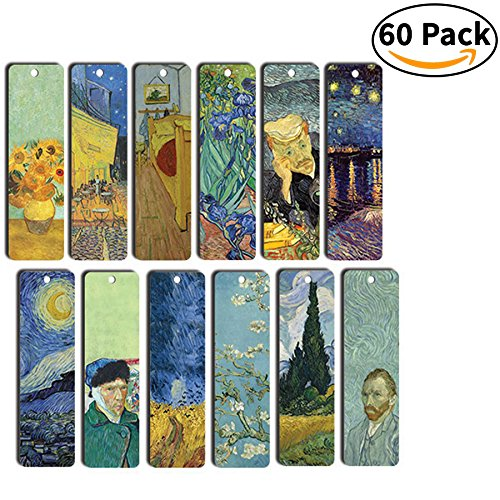 Loving Vincent Van Gogh Bookmarks Cards - Bookmarker Literary Gifts for Men and Women - Stocking Stuffers