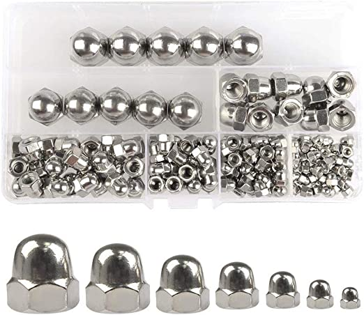 25pcs Stainless Steel Acorn Nuts 1//4-20 Stainless Steel Acorn Hex Cap Nut Decorative Acorn Nuts Acorn Dome Cap Head Hex Nuts 1//4-20 Stainless Steel Acorn Hex Cap Nuts