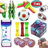 UPSTONE Fidget Toys Bundle Sensory Toys Set-Liquid Motion Timer/Rainbow Magic Ball/Stretchy String/Infinity Cube Stress Relief Hands Toys for Children and Adults Therapy Toys for ADHD Anxiety Autism