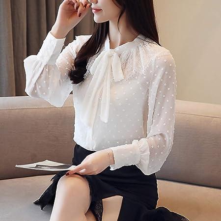 KCMCY Blusas Blusas De Mujer Blusa Blanca De Mujer Blusa De Manga Larga Blusas De Mujer Blusas Y Blusas De Mujer, M: Amazon.es: Hogar
