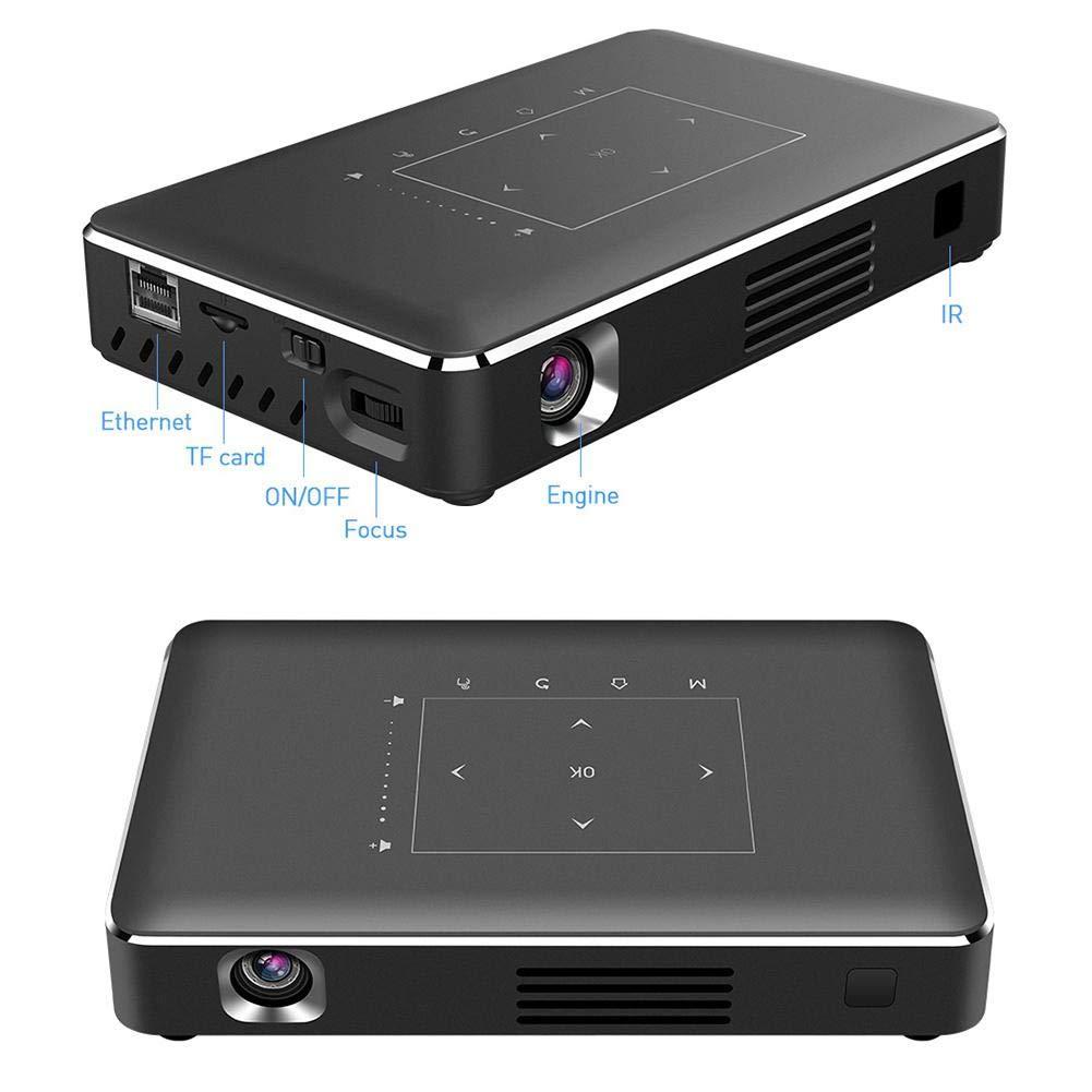 Digital Projector US Plug 100-240V P10-II Octa-core 16G Mobile Office Projector DLP Mobile Phone Projector 100-240V Projector for Office Presentations Remote Projector