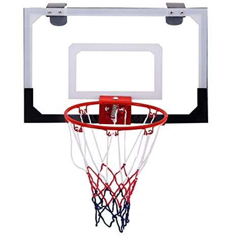 COSTWAY Canasta Baloncesto de Pared Puerta 45x30cm Aro de ...
