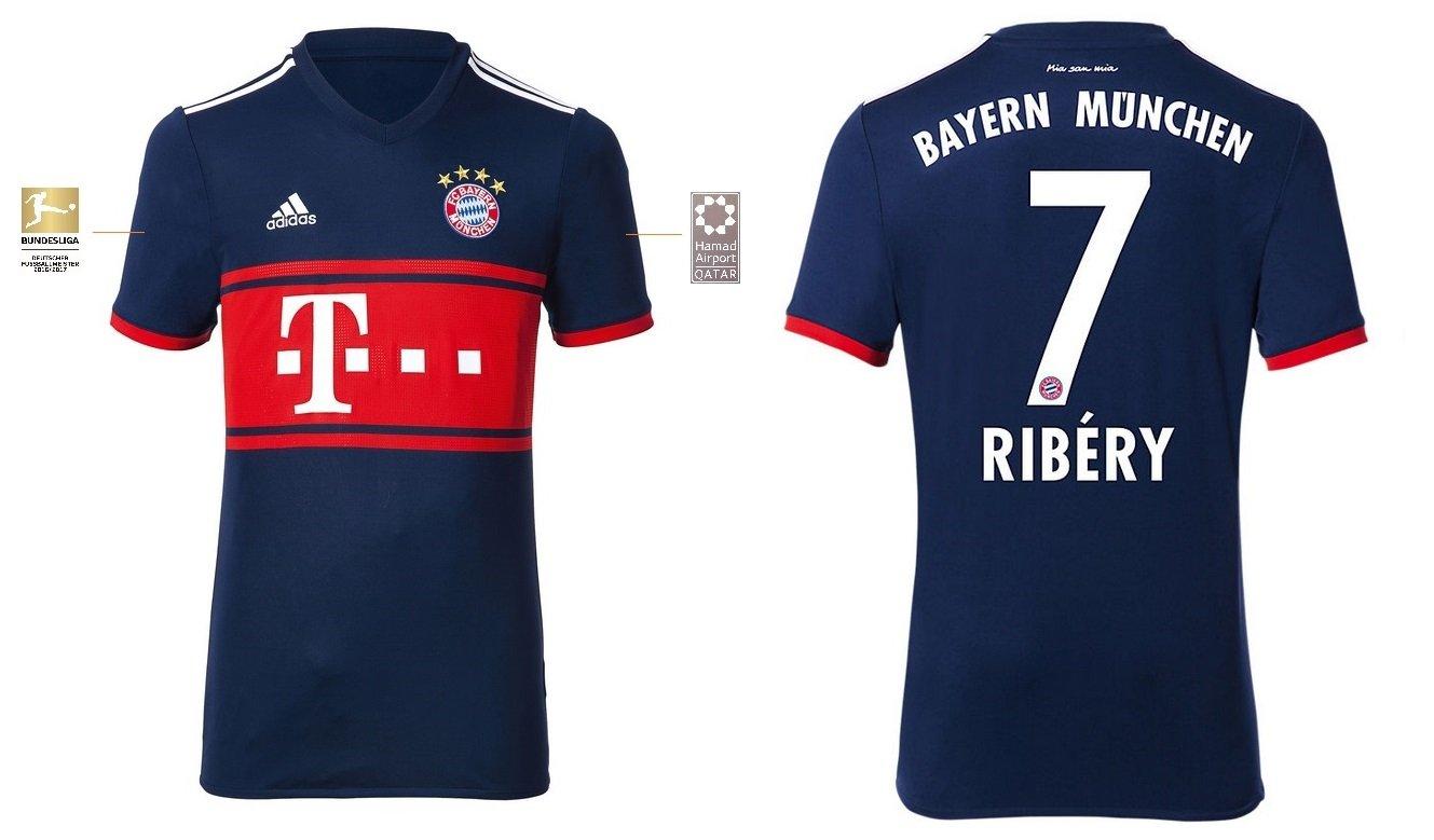 Trikot Kinder FC Bayern 2017-2018 Away BL - Ribery 7