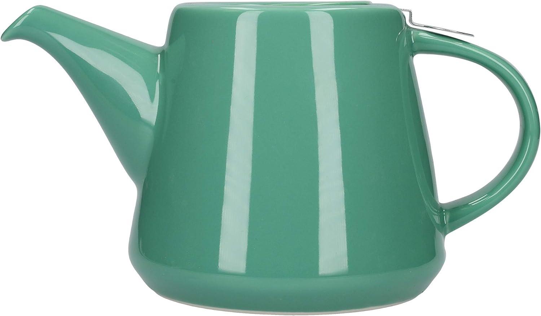 Juego de tetera con filtro y bandeja de goteo integrada London Pottery Company 78203 Hi-T gres.