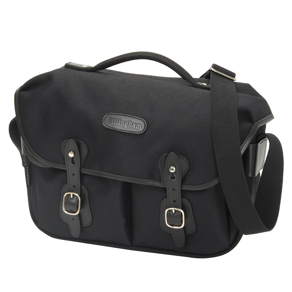Billingham Hadley Pro Fibrenyte Camera Bag With Black Shoulder Khaki Chocolate Leather Photo