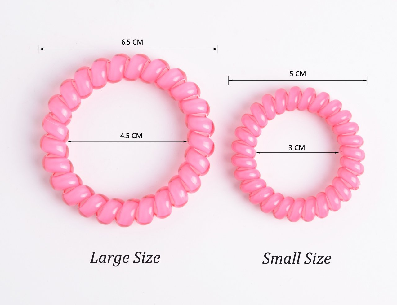 Youxuan 4 Piece Hair Coil Set No-kink Spiral Hair Ring Strong Elasticity