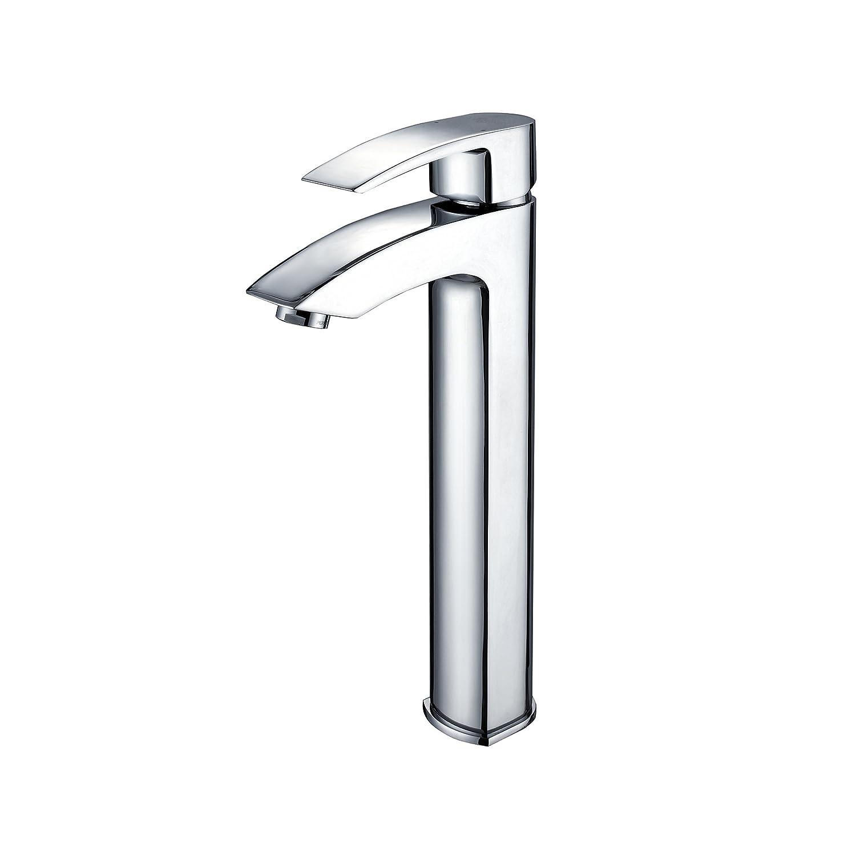 Kraus FVS-1810CH Visio Single Lever Vessel Bathroom Faucet Chrome ...