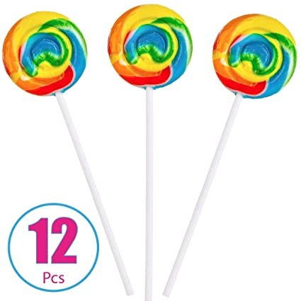 Rainbow Swirl Pops - 12 ventosas: Amazon.com: Grocery ...