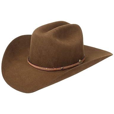 premier coup d'oeil prix plancher mieux choisir Stetson Chapeau de Cowboy Powder River Feutre Poil (61 cm ...