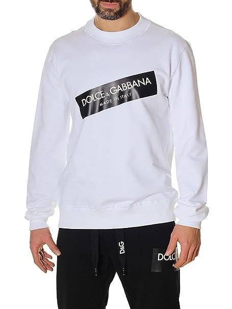 rivenditore di vendita ad04f 6f371 DOLCE E GABBANA - Felpa - Uomo bianco Dimensione del marchio ...