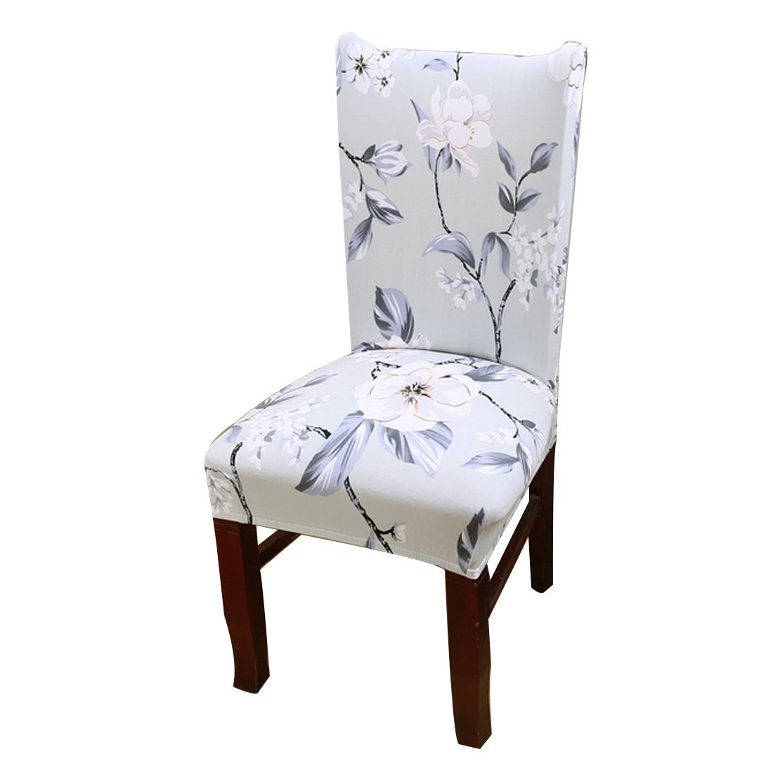 Dining Room Stretch Printed Chair Cover Spandex Lycra Universal Protector Slipcovers Wedding Banquet Party Decor Duoguan