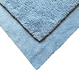 Auto Detailing Towels (3 Pack) 16in x 16in - Best Multiuse Microfiber Car Cleaning Buffing and Dusting Cloth - Professional 70/30 Blend 500 GSM - Super Thick & Plush Dual-Pile - Blue Edgeless Trim