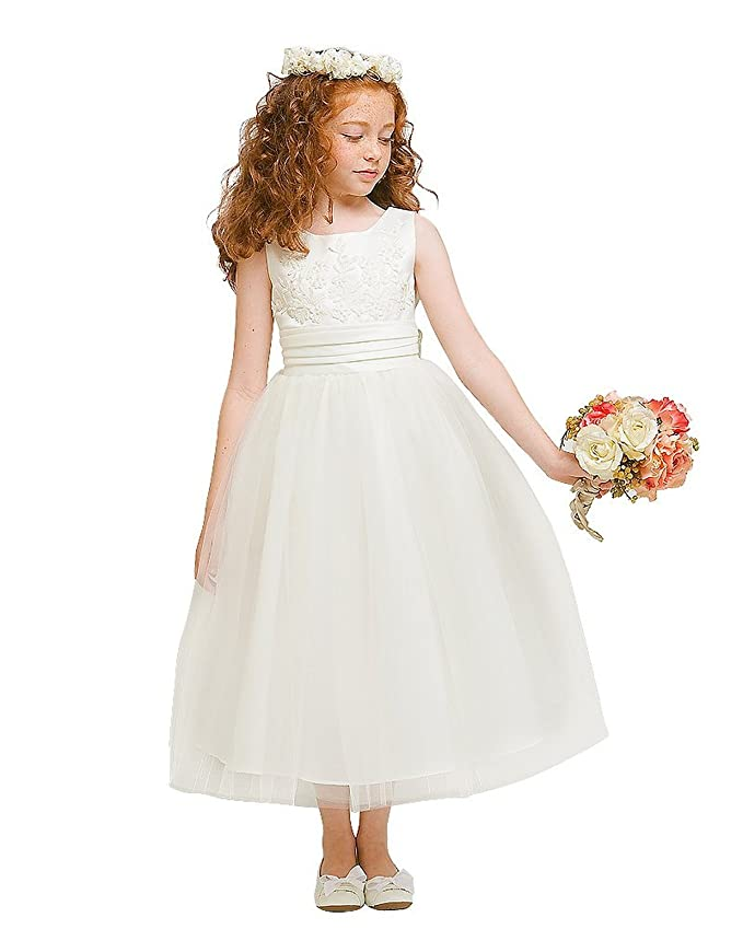 Amazon.com: Kid Collection Girls Flower Girl Wedding Dress: Clothing