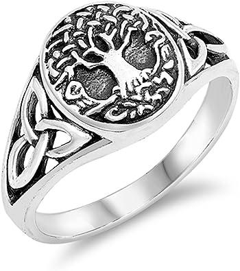 Celtic Cross Ring Filigree Men Women Stainless Steel Sizes 9 11 13