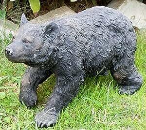 Hi-line regalo 87875-b Bear Walking statue44; Negro