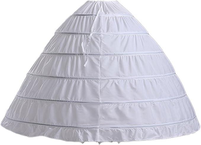 Albrose Enaguas de Novia para Boda Vestidos o Vestidos de quinceañera - Blanco -