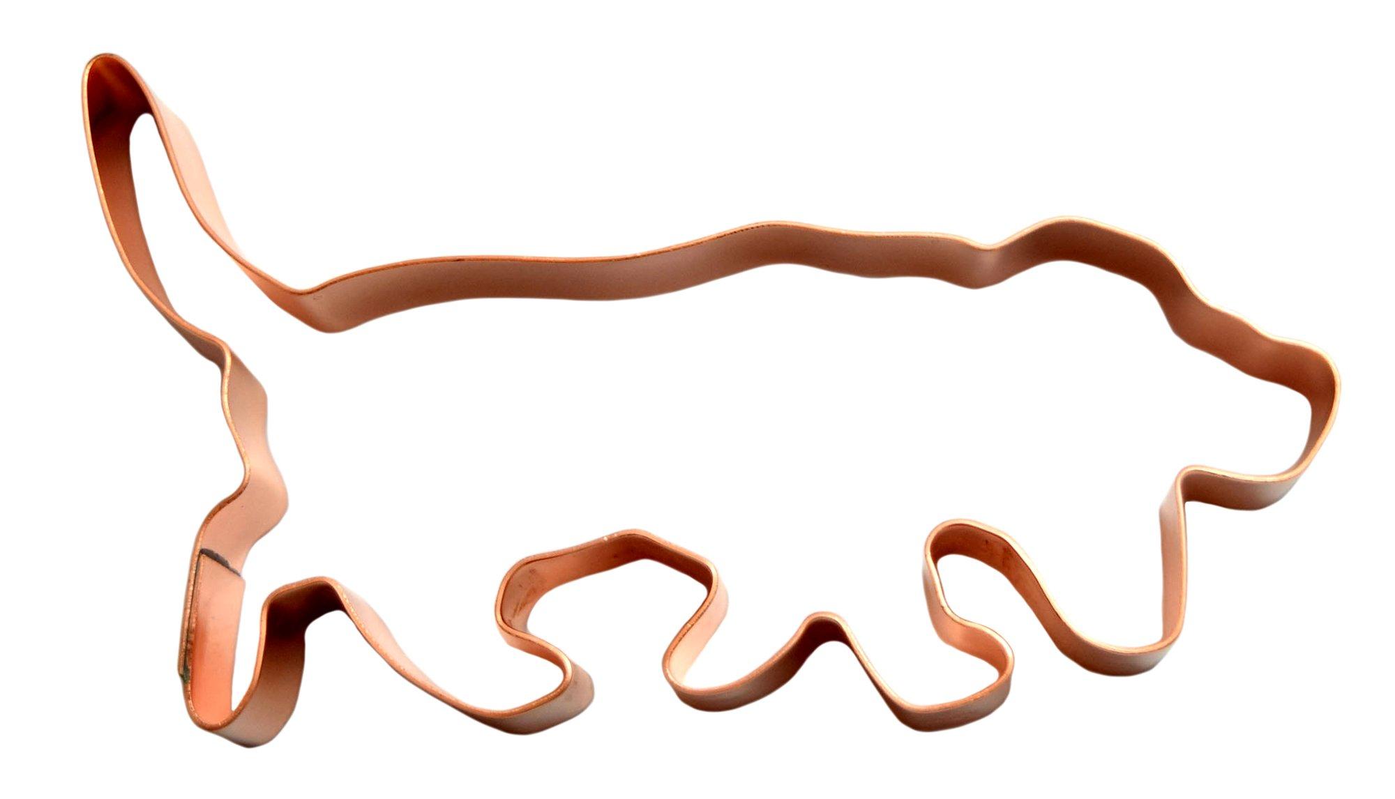 Hunting Basset Hound Copper Cookie Cutter 1