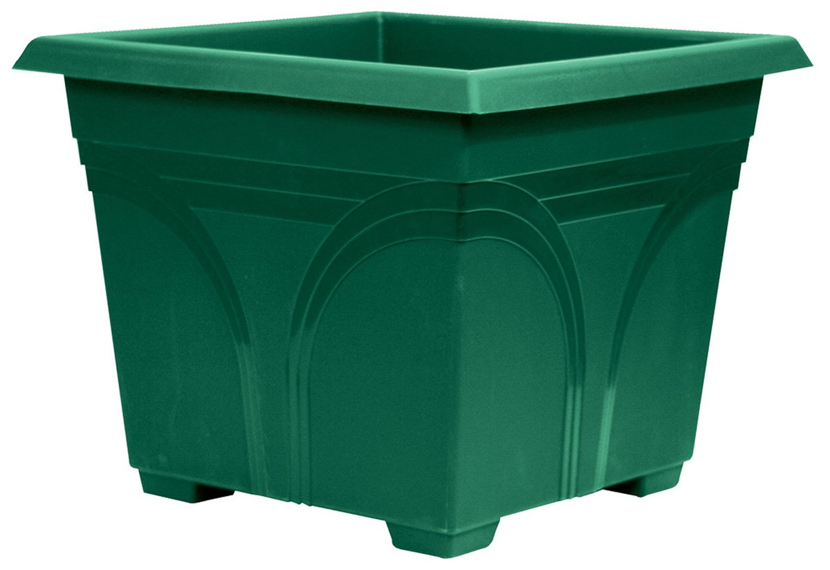 Dynamic Design DP1510FE Medallion 15-Inch Poly Deck Box, Fern