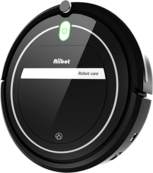 Aiibot Aspirador Robot con Sistema de Limpieza de 3- Etapas, Sensor Inteligente de Detención de Caídas, Filtro HEPA ...