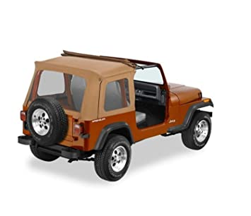 Bestop 51698 37 Spice Sunrider Complete Replacement Soft Top With Clear Windows No Doors Included For 1976 1995 Jeep Cj 7wrangler