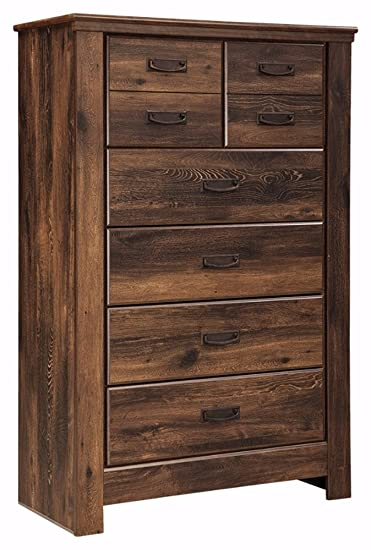Ashley Furniture Signature Design   Quinden Chest Of Drawers   5 Drawers    Vintage Casual