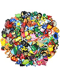 a1d662496 Lot of 100 PVC Different Shoe Charms for Croc   Jibbitz Bands Bracelet  Wristband For Boys