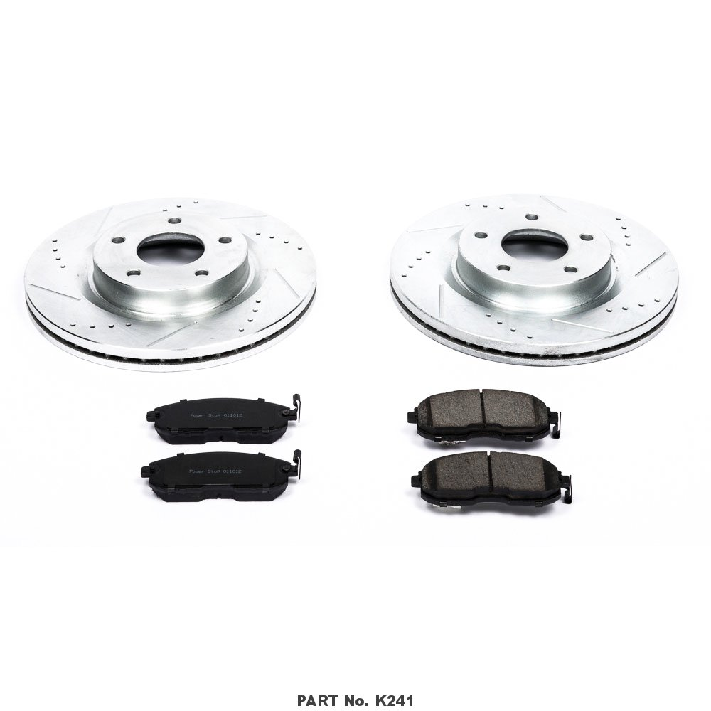 Power Stop K241 Front Z23 Evolution Brake Kit with Drilled//Slotted Rotors and Ceramic Brake Pads