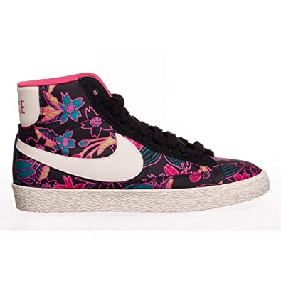 promo code 100% authentic discount Nike Womens Blazer Mid Textile Print Trainers 725084 ...