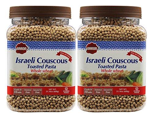 Baron's Kosher Israeli Couscous Toasted Pasta 21.16-ounce Jar - Pack of 2 - (Whole Wheat Israeli ()