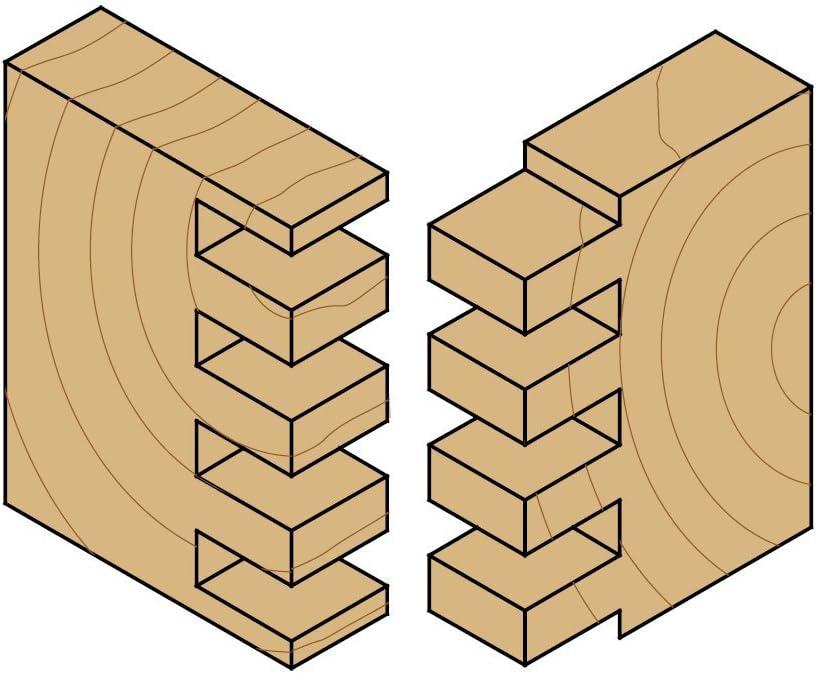 CMT 800.616.11 Box Joint Bit 1//2-Inch Shank 1-7//8-Inch Diameter